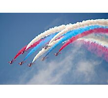 Looping Through Cloud - The Red Arrows - Farnborough 2014 Photographic Print