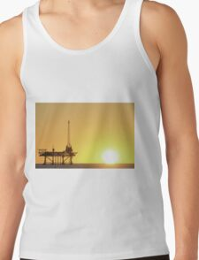 Offshore Oil Rig and Sun Tank Top