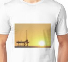Offshore Oil Rig and Sun Unisex T-Shirt