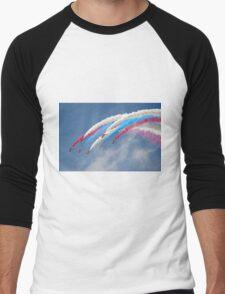 Looping Through Cloud - The Red Arrows - Farnborough 2014 Men's Baseball ¾ T-Shirt