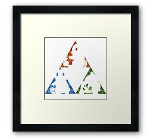 Pokemon TriForce (Original 3 Pokemon)  Framed Print