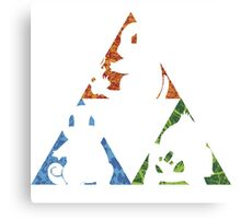 Pokemon TriForce (Original 3 Pokemon)  Canvas Print