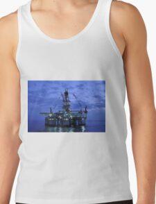 Oil Rig at Twilight Tank Top