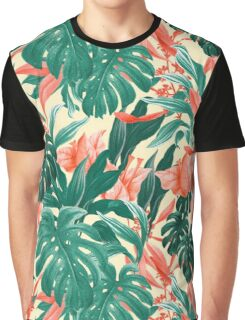 Tropical Flowers Graphic T-Shirt