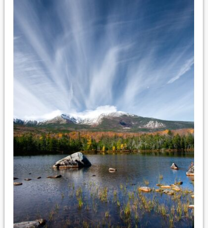 Sandy Stream Pond in Baxter State Park, Maine Sticker