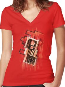Blurry NES Women's Fitted V-Neck T-Shirt