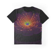 Flower Fractal Art Graphic T-Shirt