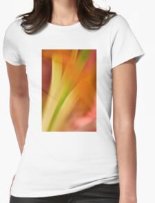 Flower Abstract Womens Fitted T-Shirt
