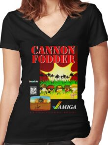Cannon Fodder Women's Fitted V-Neck T-Shirt