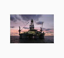 Oil Rig at Dawn Unisex T-Shirt