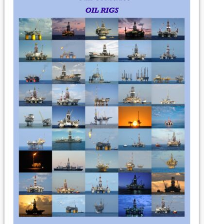 Oil rigs of the Gulf of Mexico Sticker