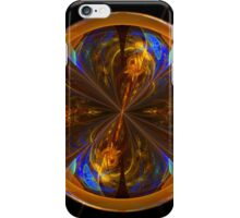 Stained Glass Disc Fractal Art iPhone Case/Skin