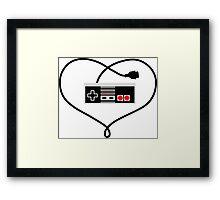 Love Nintendo NES Framed Print