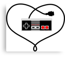 Love Nintendo NES Canvas Print