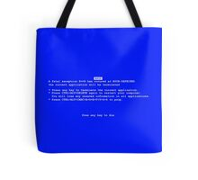 Blue Screen Of Death Tote Bag
