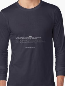 Blue Screen Of Death Long Sleeve T-Shirt