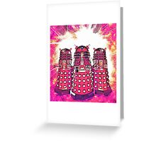 Radiant Daleks Greeting Card