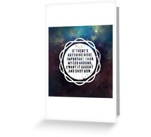 I want it caught and shot now! Greeting Card
