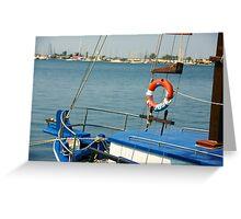 boat and holidays Greeting Card