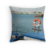 boat and holidays Throw Pillow