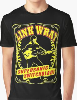 Link Wray (Supersonic Switchblade) Colour Graphic T-Shirt