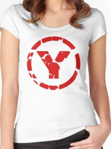 prYda red Women's Fitted Scoop T-Shirt