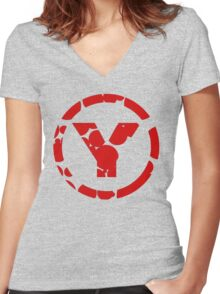 prYda  Women's Fitted V-Neck T-Shirt