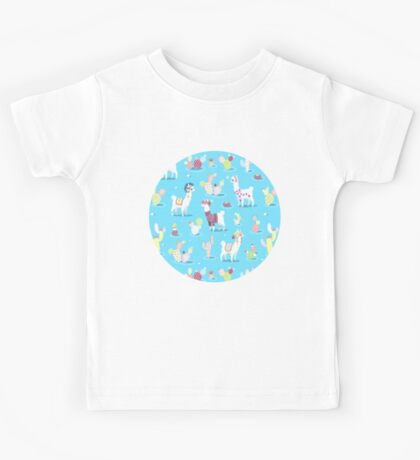 Alpaca Pattern Kids Clothes