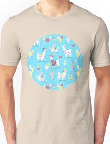 Alpaca Pattern Unisex T-Shirt