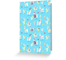 Alpaca Pattern Greeting Card