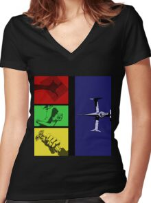 Cowboy Bebop Intro Sequence  Women's Fitted V-Neck T-Shirt