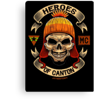 Heroes of Canton Bike Club Canvas Print