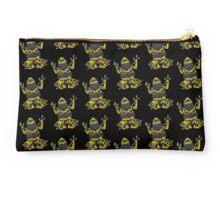 Yellow and black poison dart frog Dendrobates Leucomelas Studio Pouch