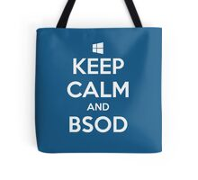 Keep calm and BSOD Tote Bag