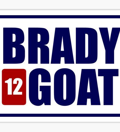 BRADY *12* GOAT Sticker