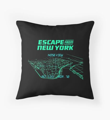 Escape from New York Manhattan mission Throw Pillow