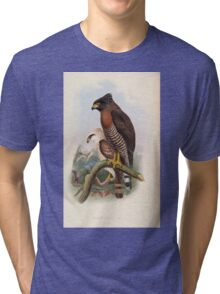 Birds of Asia John Gould 1883 V1 V7 009 Spilornis Rufipectus Tri-blend T-Shirt