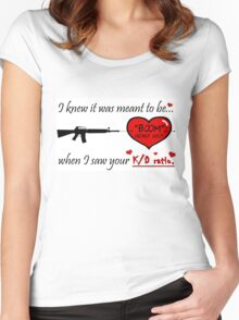 Romantic FPS Gamer Geek Love Women's Fitted Scoop T-Shirt