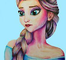 Elsa from Frozen - Blue by weronikart