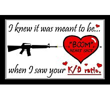Romantic FPS Gamer Geek Love Photographic Print
