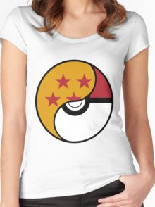 Dragon Ball x Pokemon Women's Fitted Scoop T-Shirt