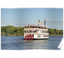 Savannah River Steamboat Poster