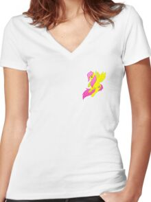 Tiny Fluttershy Women's Fitted V-Neck T-Shirt