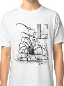 Garden Alphabet Letter E Classic T-Shirt