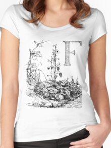 Garden Alphabet Letter F Women's Fitted Scoop T-Shirt