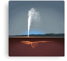 Geysers explained Canvas Print
