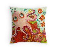 Octopus Under the Sea Throw Pillow