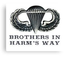 Jump Wings - Brothers in Harm's Way Canvas Print
