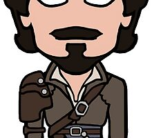 Aramis the Musketeer (sticker) by redscharlach