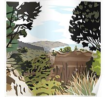 Gore Bay, NZ by Ira Mitchell-Kirk Poster